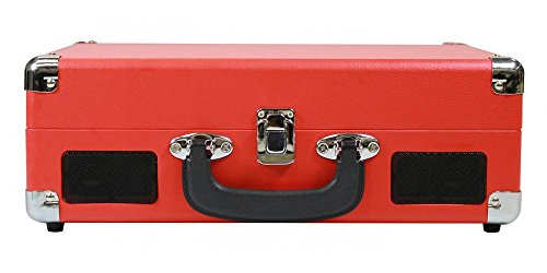 CRAIG CD698RD RED 3 IN 1 STEREO SUITCASE TURNTABLE SYSTEM
