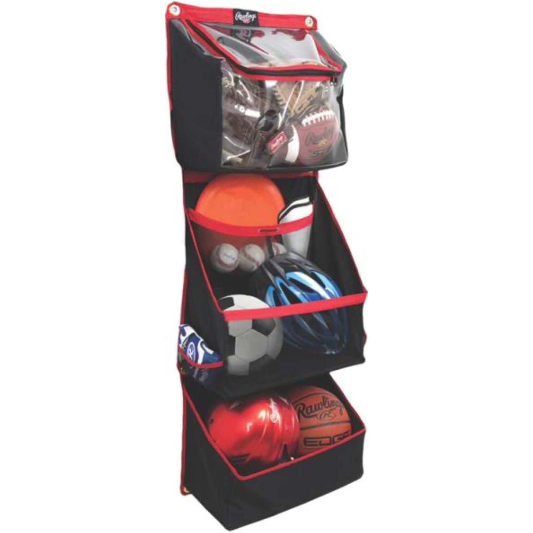 Crawford FSSBH16 Horizontal Sport Storage Organizer, 8-1/2 in L x 18 in W x 48 in D, Black/Red