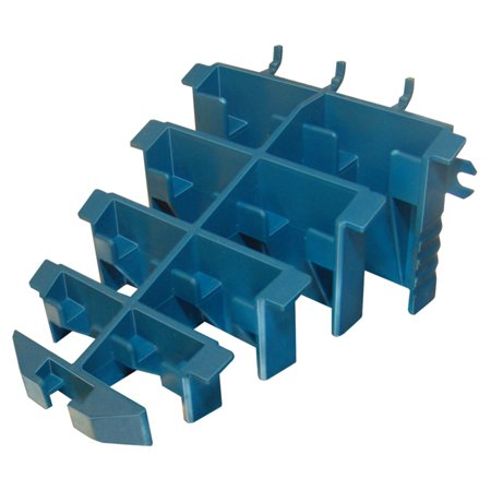 Lehigh PBW9 Wrench Holder, For Use With 1/8 and 1/4 in Pegboard, Plastic, Blue
