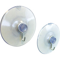 Crawford SCL2 Large Suction Cup With Hooks, 2-1/4 in Dia, 6 lb