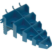 Lehigh PBS9 Screwdriver Holder, For Use With 1/8 and 1/4 in Pegboard, Plastic, Blue