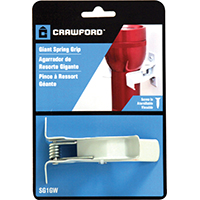 Crawford SG1GW Giant Grip Spring Without Screws, 1.3 in W x 4.6 in D x 4 in H, White