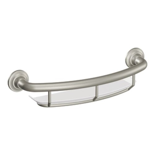 MOEN CSI GRAB BAR 16 IN. BRUSHED NICKEL WITH ACCESSORIES