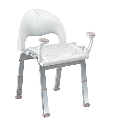 MOEN SHOWER CHAIR, MESH, WHITE