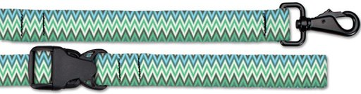 Croakies Dog Leash, Medium, Ziggy Seagrass