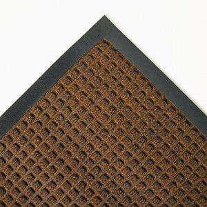 Super-Soaker Wiper Mat w/Gripper Bottom, Polypropylene, 34 x 58, Dark Brown