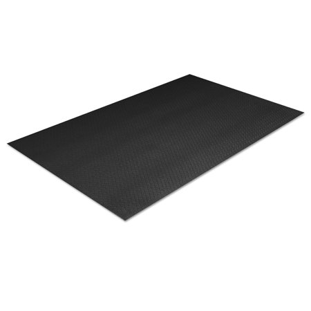 Tuff-Spun Foot Lover Anti-Fatigue Pebble Mat, PVC, 36 x 144, Black
