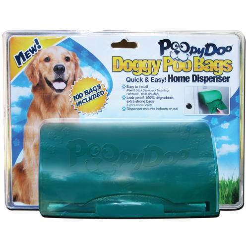 POOPY DOO� DOG WASTE BAG DISPENSER WITH 100-BAG ROLL