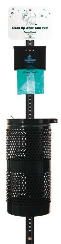 POOPY POUCH PET WASTE DISPOSAL SYSTEM, WITH CHANNEL POST