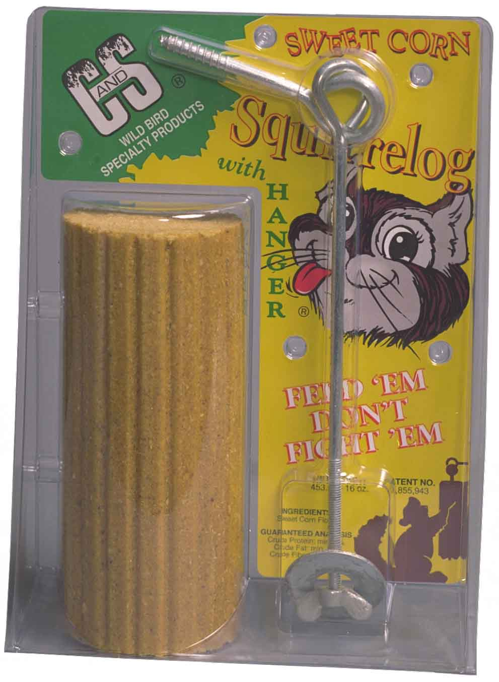 Sweet Corn Squirrel Log w/hanger +Frt