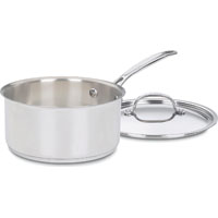 SAUCEPAN STAINLESS W/LID 3QT