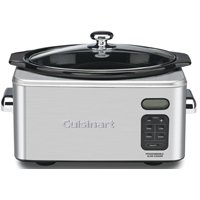 Cuisinart PSC-650 Programmable Slow Cooker, 6.5 qt, 16.34 in H x 12 in W x 11.61 in L, Stainless Steel, Brushed