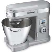 Cuisinart SM-55BC Stand Mixer With Handle, 800 W, 120 V, 12 Speed, Die-Cast Metal