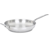 Chef's Classic 722-30H Open Skillet, 12 in Dia, Stainless Steel