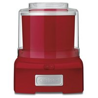 Cuisinart Frozen Yogurt Automatic Ice Cream and Sorbet Maker, 1-1/2 qt, 120 V, Thermoplastic, Red/Orange