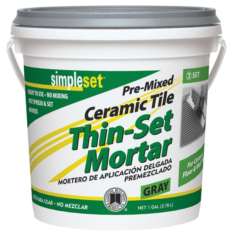 1 Gallon Gray Premix Thin Set Mortar