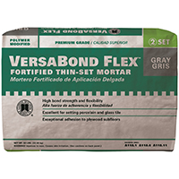 VersaBond?Flex VBFG50 All Purpose Fortified Thin?Set?Mortar, 50 lb, Bag, Gray, Powder