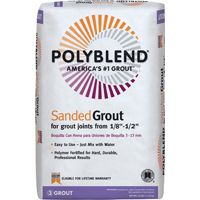Polyblend PBG1925 Sanded Tile Grout?, 25 lb, Bag, NO 19 Pewter, Solid Powder