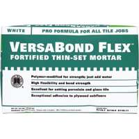 VersaBond?Flex VBFW50 All Purpose Fortified Thin?Set?Mortar, 50 lb, Bag, White, Powder