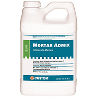 Custom Building AMA2 Thin-Set Mortar Adhesive Mix, 2.5 gal, Bottle, White, Mild, Liquid