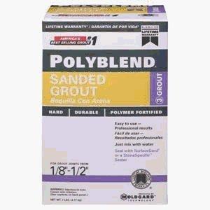 Polyblend PBG1457-4 Sanded Tile Grout?, 7 lb, Box, NO 145 Light Smoke, Solid Powder