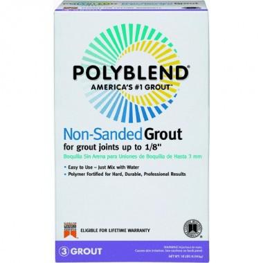 Polyblend PBG1110 Non?Sanded Tile Grout?, 10 lb, Box, NO 11 Snow White, Solid Powder