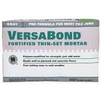 Versabond MTSG50 Fortified Thin-Set Mortar, 50 lb, Bag, Gray, Solid Powder