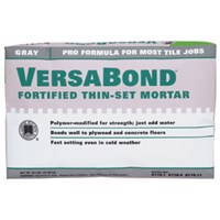Versabond MTSW50 Fortified Thin-Set Mortar, 50 lb, Bag, White, Solid Powder