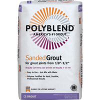 Polyblend PBG2225 Sanded Tile Grout?, 25 lb, Bag, NO 22 Sahara Tan, Solid Powder