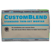 CustomBlend CBTSG50 Standard Thin?Set?Mortar, 50 lb, Bag, Gray, Powder