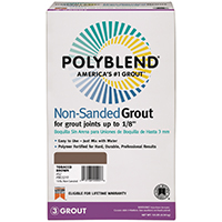 Polyblend PBG6010 Non?Sanded Tile Grout?, 10 lb, Box, NO 60 Charcoal, Solid Powder