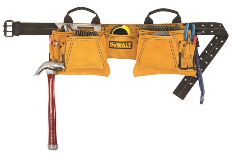 12 Pocket Carpenter Suede Apron