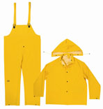 Climate Gear R1012X 3-Piece Rain Suit, 2X-Large, Heavyweight PVC/Polyester Backing, Yellow