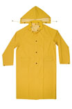 Climate Gear R105L 2-Piece Heavyweight Rain Trench Protective Coat, Large, PVC, Yellow