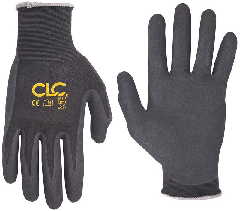 CLC T-Touch 2038 Breathable Technical Safety Gloves, Medium, Nylon/Spandex, Black, Nylon Lining