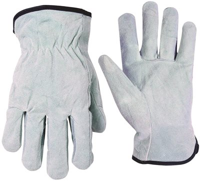 CLC 2054 Economy Driver Work Gloves, Large, Split Cowhide Leather, White