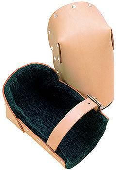 Tool Works 309 Heavy Duty Knee Pad, One Size Fits All, Top Grain Leather, Tan