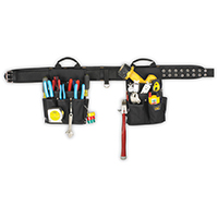 CLC 5609 Electrician Combo Tool Belt, 20 Pocket, Ballistic Polyester, Black