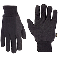 CLC 2012 Heavyweight Work Gloves, One Size, Polyester Jersey, Black
