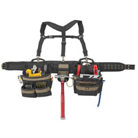 CLC 6714 5-Piece Combo Rig Heavy Duty Tool Belt Lift System, 5 in W, Polyester Fabric