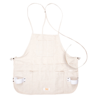 CLC C10 Bib Apron, 12 Pocket, Cotton Canvas, White