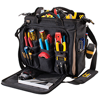 CLC Tool Works 1537 Multi-Compartment Tool Carrier, 13 in L X 7 in W X 13 in D, Polyester Fabric