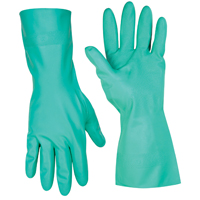 CLC 2305 Work Gloves, Medium, Nitrile, Green, Cotton Flock Lining