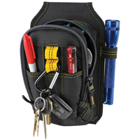 CLC 1504 Multi-Purpose Tool Pouch, 5-1/2 in W X 2 in D X 7-1/2 in H, Polyester Fabric, Black