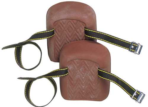 KNEE PAD NATURAL RUBBER MOLDED