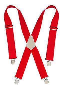 CLC Tool Works 110RED Heavy Duty Work Suspender, 2 in W, Nylon, Red