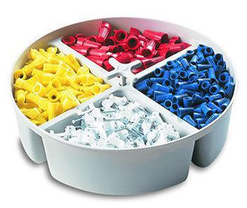 Tool Works 1152 Full Round Bucket Tray, Plastic, Gray
