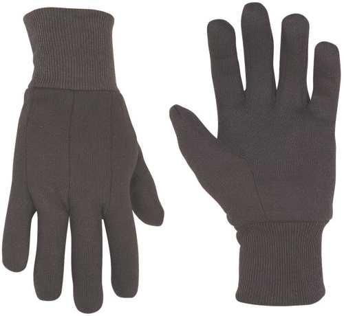 CLC� 100% COTTON BROWN JERSEY GLOVES, 12 PAIRS PER PACK