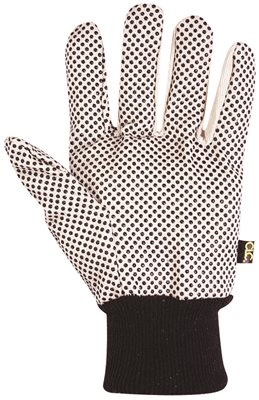 CLC� COTTON CANVAS WORK GLOVES WITH PVC GRIPPER DOTS