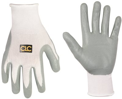 CLC� FOAM NITRILE DIP GLOVES WITH ELASTICIZED KNIT WRISTS, MEDIUM